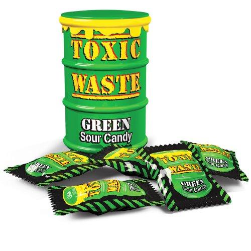 Toxic Waste Toxic Waste супер кислые зеленые конфетки 42 г