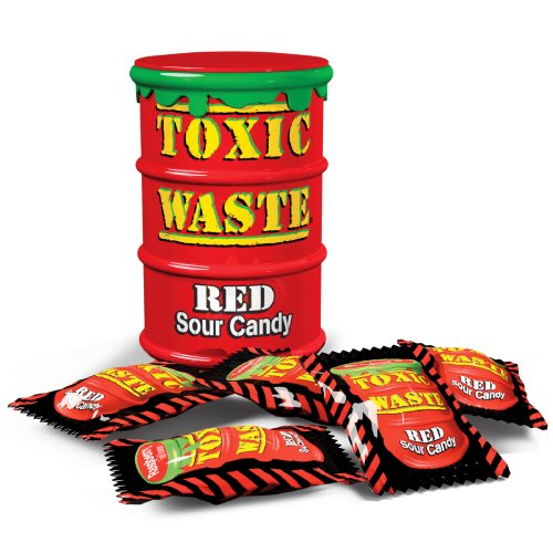 Toxic Waste Toxic Waste супер кислые красные конфетки 42 г