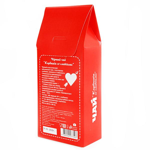 Чай клубника со сливками «Я люблю тебя» Вкусная помощь