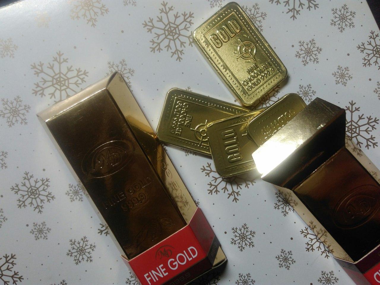 Gold большой слиток 6 шт