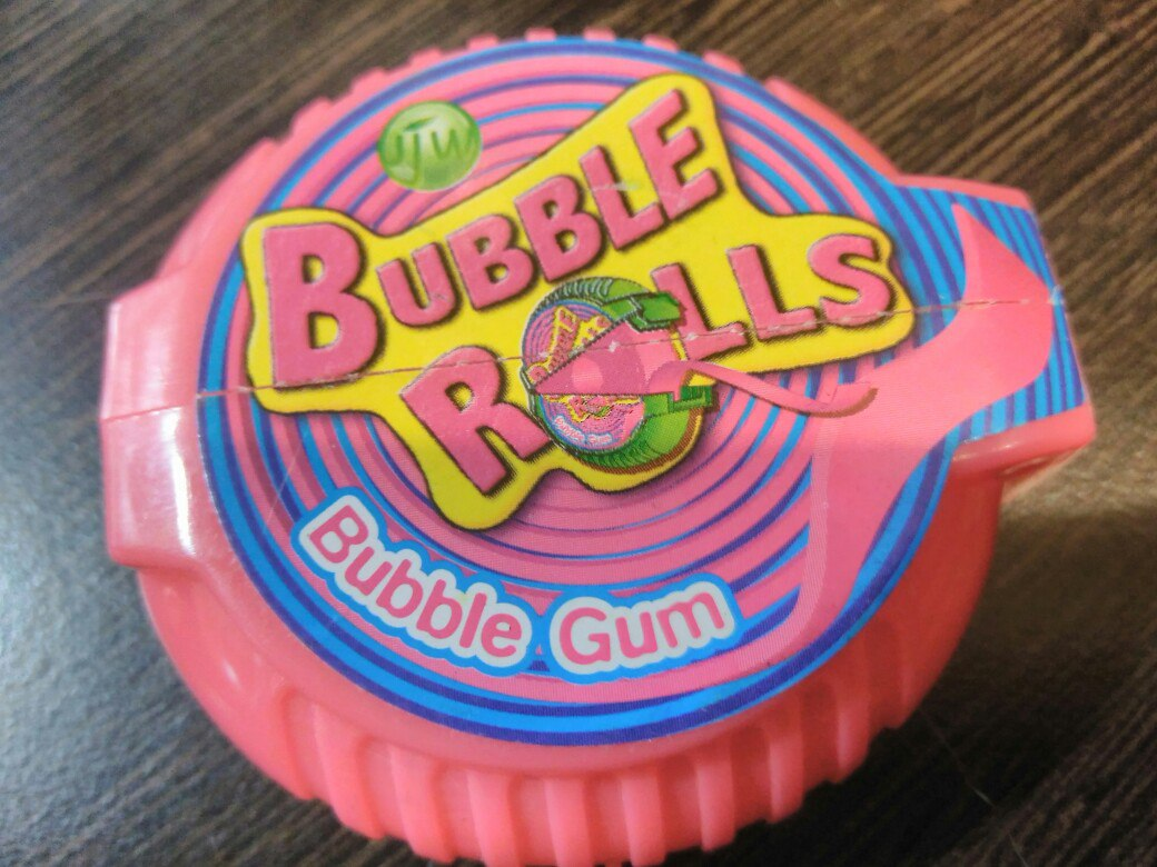 Bubble Rolls bubble gum 18 g клубника