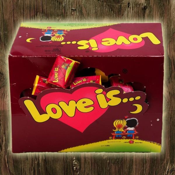 Love is жвачка блок 100 шт вишня-лимон