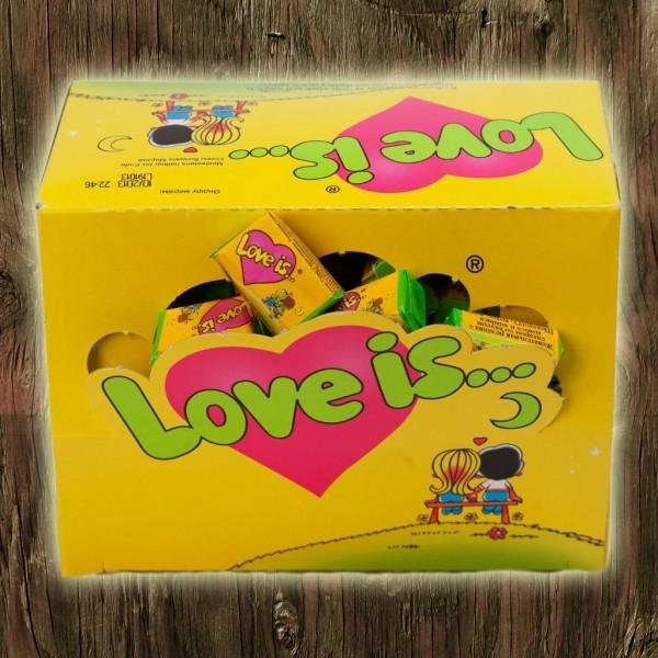 Love is жвачка блок 100 шт ананас-кокос