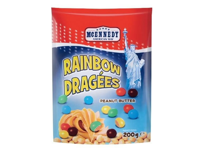 MCENNEDY american way Rainbow Peanut sweets 200 гр