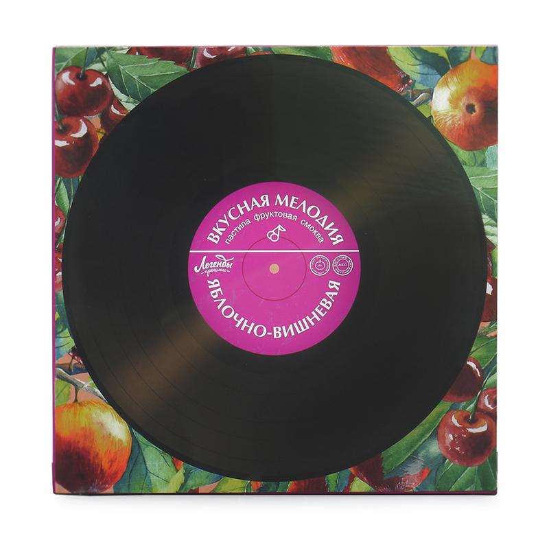 Яблочная пастила «Вкусная мелодия» вишневая