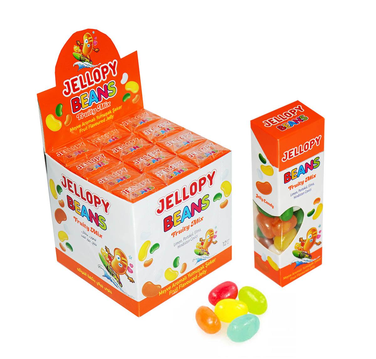 JELLYPY BEANS Fruity Mix фруктовый микс желейные бобы