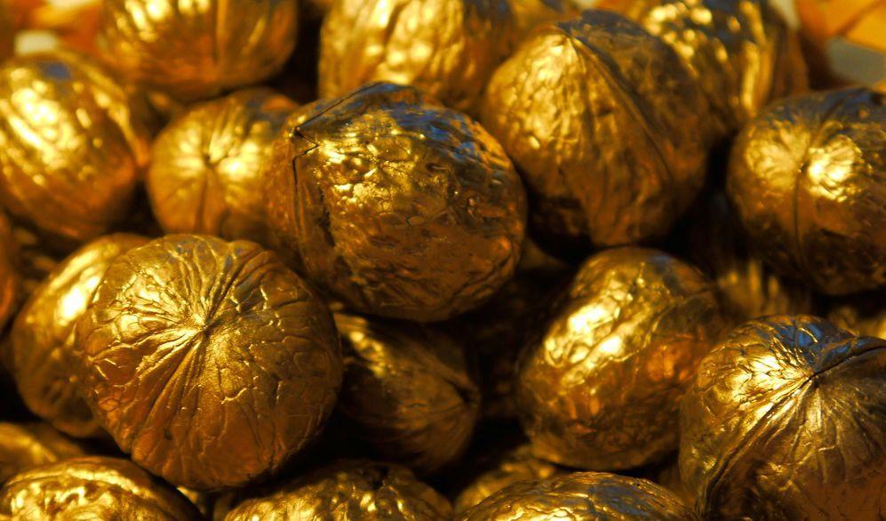 Gold! Орехи с предсказаниями (Орешки удачи) с карамелью 1 шт