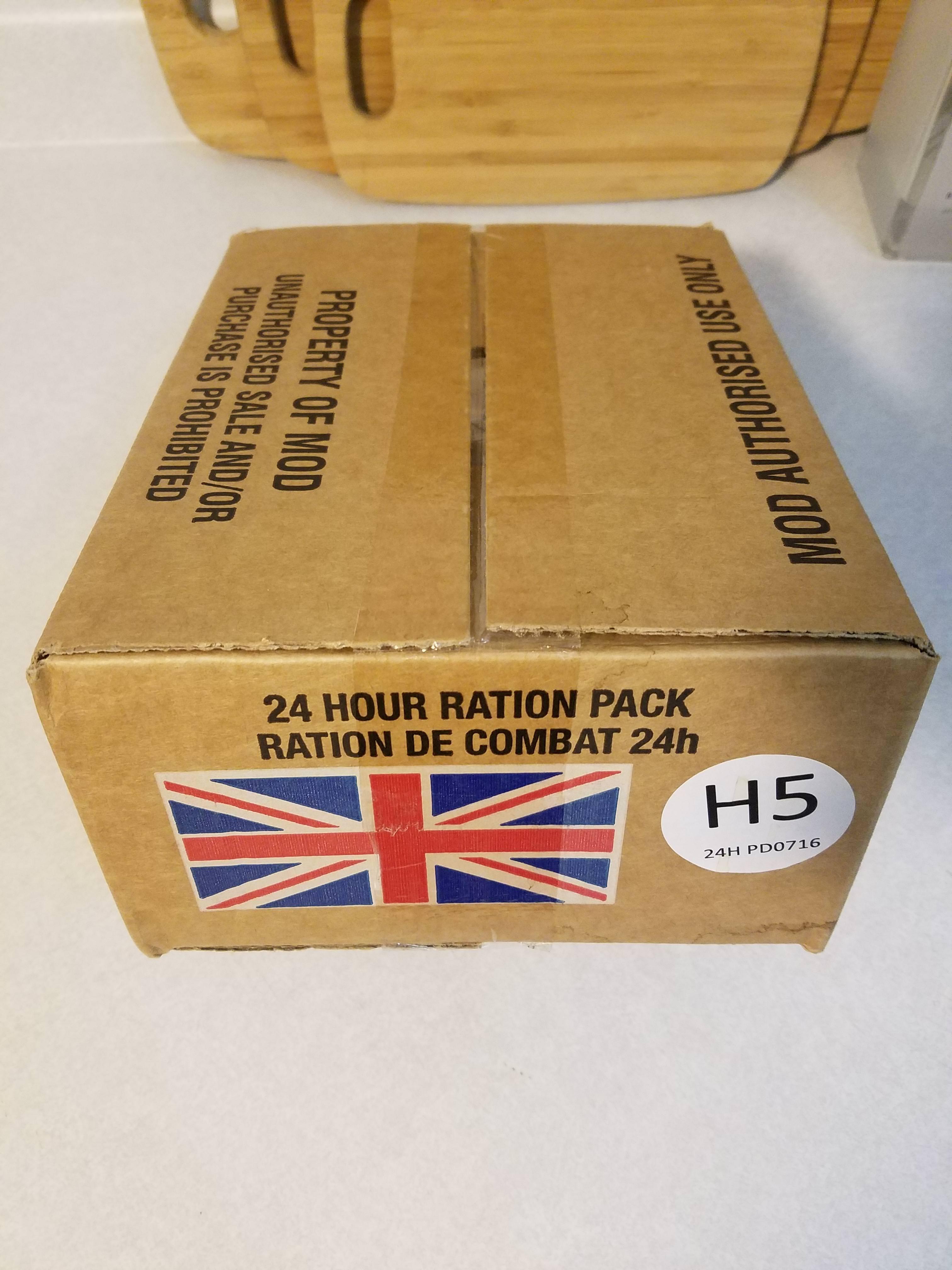 British ORP - 24 Hour Halal Field Ration Menu Сухой паек Армии Британии (британский) 2 кг
