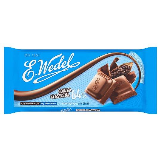 E. Wedel Dark Chocolate 64% Cocoa 100 g горький щоколад