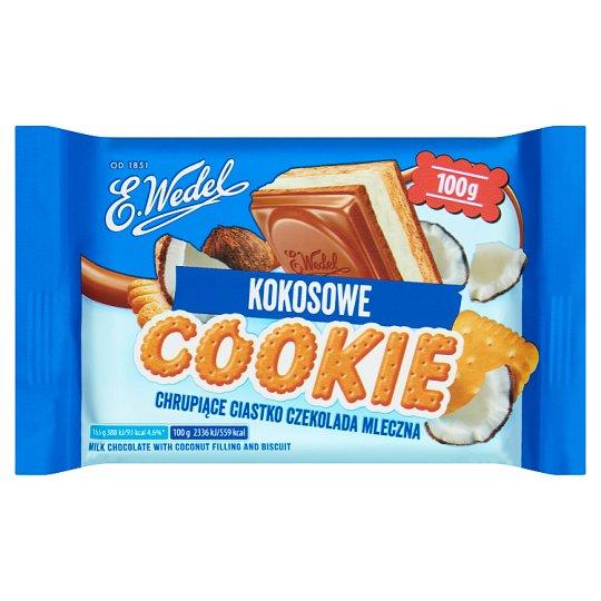 E. Wedel Cookie Milk Chocolate with Coconut Filling and cookie молочный шоколад с кремово-кокосовой сливочной начинкой слоями 100 гр