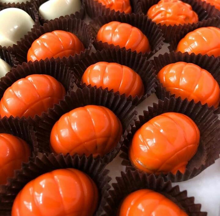 Конфеты шоколадные тыква Хэллоуин Микс 9 шт