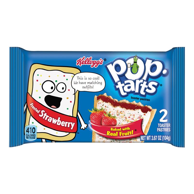Kelloggs Pop Tarts - Frosted Strawberry - Twin Packс белый шоколад и клубничный джем 104 g
